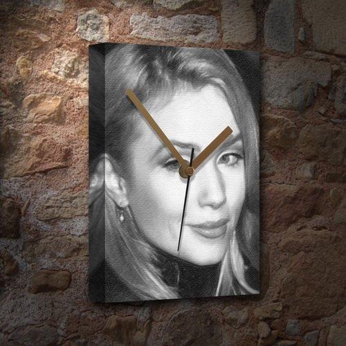 REBECCA DE MORNAY - Canvas Clock (A5 - Signed by the Artist) #js002