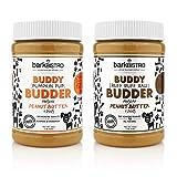 Bark Bistro Company, Ruff Ruff Raw + Pumpkin Pup Buddy Budder, Dog Peanut Butter, Healthy Dog Treat, 100% Natural Dog Peanut Butter - Made in USA (Set of 2/ 16oz Jars)