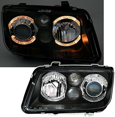 AD Tuning GmbH & Co. KG 960577 Angel Eyes Scheinwerfer Set, Klarglas Schwarz
