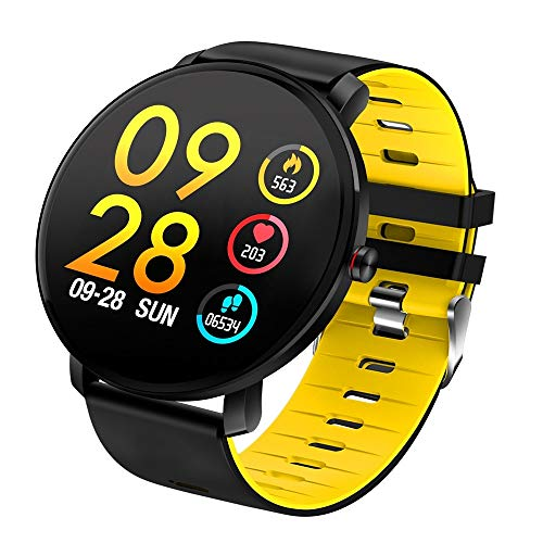 Luoshan K9 1.3 Pulgadas IPS Color Pantalla Smartwatch IP68 Resistente al Agua, Recordatorio de Llamadas de Soporte/Monitoreo de la frecuencia cardíaca/Monitoreo de la presión Arterial/Monitoreo