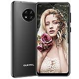 """cellulari offerte, oukitel c19 android 10 4g smartphone,6.49"""" hd+ goccia d'acqua schermo,batteria 4000mah,13mp tripla fotocamera,2gb ram+16gb rom 256gb espandibili,dual sim telefonia mobile (nero)"""