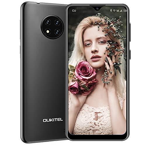 OUKITEL C19 (2020) Smartphone Ohne Vertrag Günstig, 4G LTE Android 10 Handy, 6,49 Zoll (16,48 cm) HD Display, 4000mAh Akku, 2GB RAM 16GB ROM 256GB Erweiterbar, 13MP Dreifachkameras Dual SIM (Schwarz)