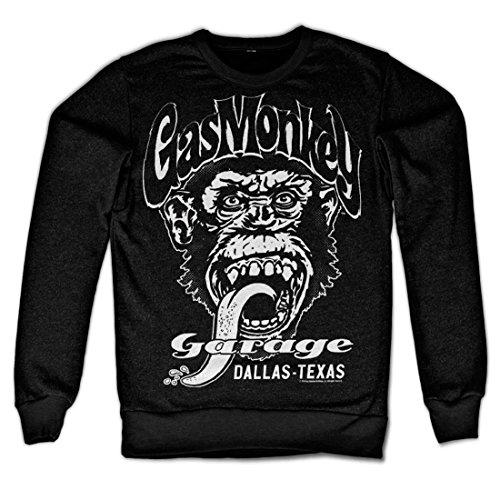 Gas Monkey Garage Offizielles Lizenzprodukt Dallas Texas Sweatshirt (Schwarz), Medium
