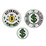 Foretra - Metallic Golf Poker Chip Magnetic Ball Marker and Removable Ball Marker – Putt for Dough – Money Maker