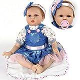 ZIYIUI 22' 55 cm Realista bebe Reborn Muñeca Vinilo Suave Silicona Niña Reborn Muñecos bebé Regalo de cumpleaños