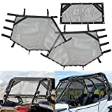 Sresk RZR Shade Nets/UTV Window Net/Roll Cage Mesh Guard for Polaris RZR/ATV Cabs and Roofs (Black)