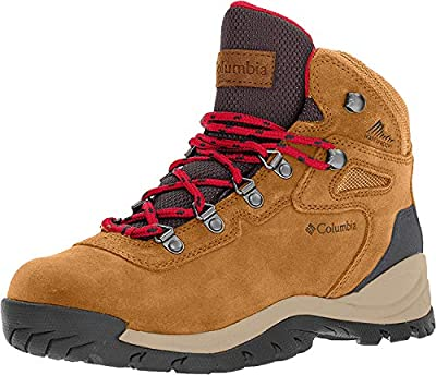 Columbia womens Newton Ridge Plus Waterproof Amped Hiking Boot, Elk/Mountain Red, 8 US