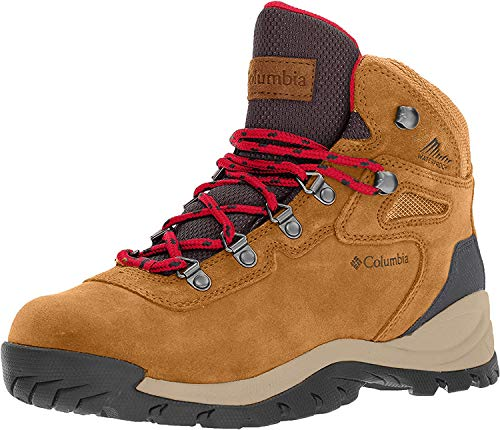 Columbia Women's Newton Ridge Plus Waterproof Amped Hiking Boot, Elk/Mountain Red, 8.5