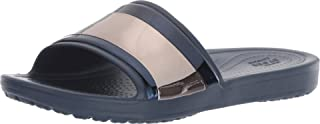 Crocs Women's Sloane Metalblock Flip Slide Sandal