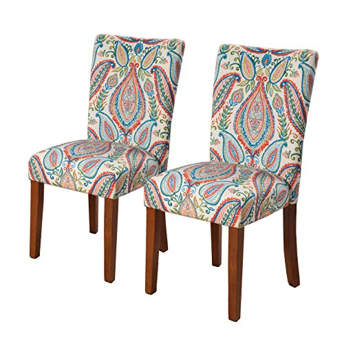 HomePop Parsons Classic Upholstered Accent Dining Chair Set