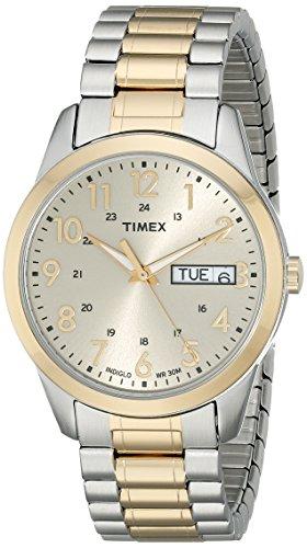 Timex Relógio esportivo masculino South Street, Dois tons