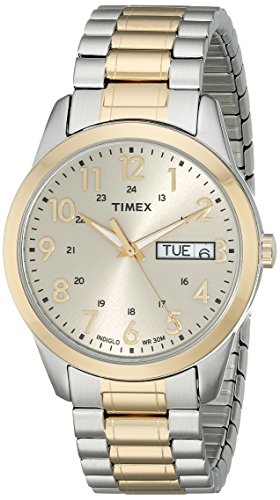 Timex Men's T2M935 South Street Sport Two-Tone Stainless Steel Expansion Band Watch