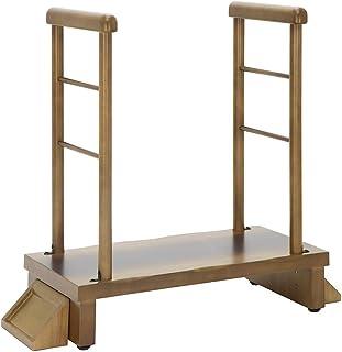 ヤマソロ 両手すり付玄関台 昇降補助 玄関ステップ 踏み台 睡蓮 すいれん 74-115