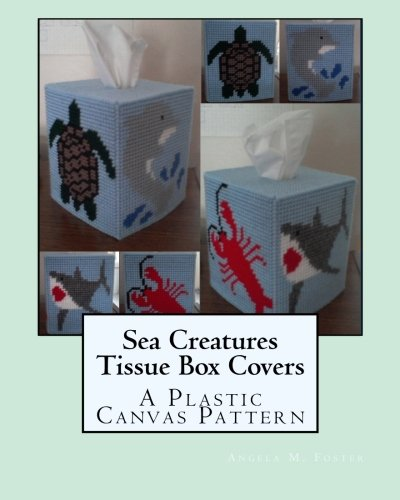Sea Creatures Tissue Box Covers: A Plastic Canvas Pattern