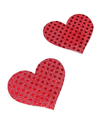 Dames teppel sticker hart patroon rood mok beha pad borst intieme sieraden grootte Ø 80mm