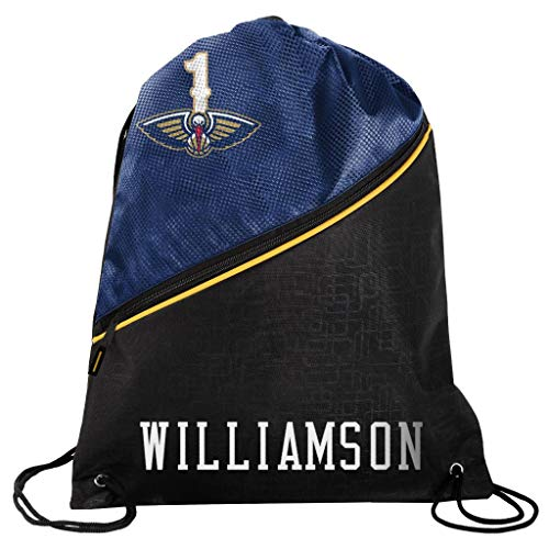 FOCO - New Orleans Pelicans High End Diagonal Drawstring Backpack Gym Bag - Zion Williamson #1