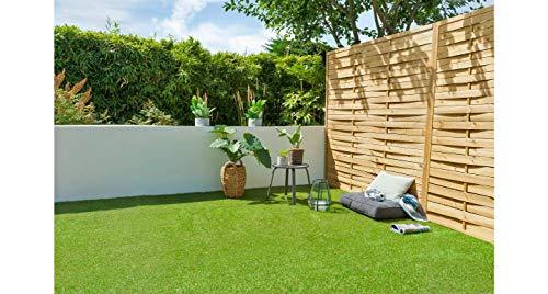 Cesped artificial terraza exterior California - rollo cesped artificial 2x5m 20mm de altura con alta densidad - calidad profesional - fácil instalación con buen drenaje