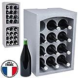 Talous Buon Vino Étagère à vins-Casier range porte bouteilles empilables en polystyrène-35x 29,5x 50cm-pour 12bouteilles