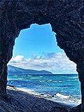 Bordado de diamantes junto al mar, punto de cruz 5D, pintura de diamantes DIY, paisaje de puesta de sol, mosaico de diamantes, diamantes de imitación de montaña, arte A5 40x50cm