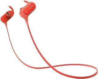 ソニー ワイヤレスイヤホン MDR-XB50BS : 防滴/スポーツ向け Bluetooth対応 マイク付き レッド MDR-XB50BS R