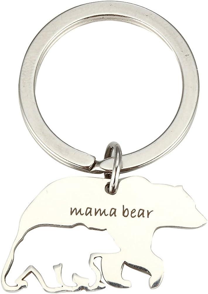 Meiligo Oklahoma City Mall Stainless Steel Denver Mall Mum Sweet Mama Round and Baby Penda Bear