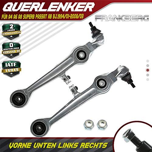 2x Querlenker Radaufhängung Vorne Unten Links Rechts für A4 A6 A8 Superb Passat 1994-2008 4D0407151A