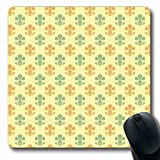 Egoa Alfombrillagamingcon Fleur Decoration De lis LYS Pastel Green Fancy Texture Retro Sage Pattern Abstract Decor Textures Games Custom Mousepad Oblong School 25X30Cm Non Slip Rubber