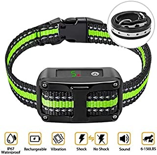 PetYeah Dog Bark Collar-5 Adjustable Sensitivity and Intensity Levels-Dual Anti-Barking..