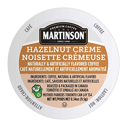 Martinson Single Serve Coffee Capsules, Hazelnut Creme, Compatible with Keurig K-Cup Brewers, 24 Count