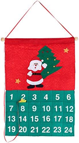 PEARL Weihnachts-Dekoration: Adventskalender zum Selbstbefüllen, Weihnachtsmann-Motiv, 42,5 x 30 cm (Weihnachtsmann Adventskalender zum Befüllen)