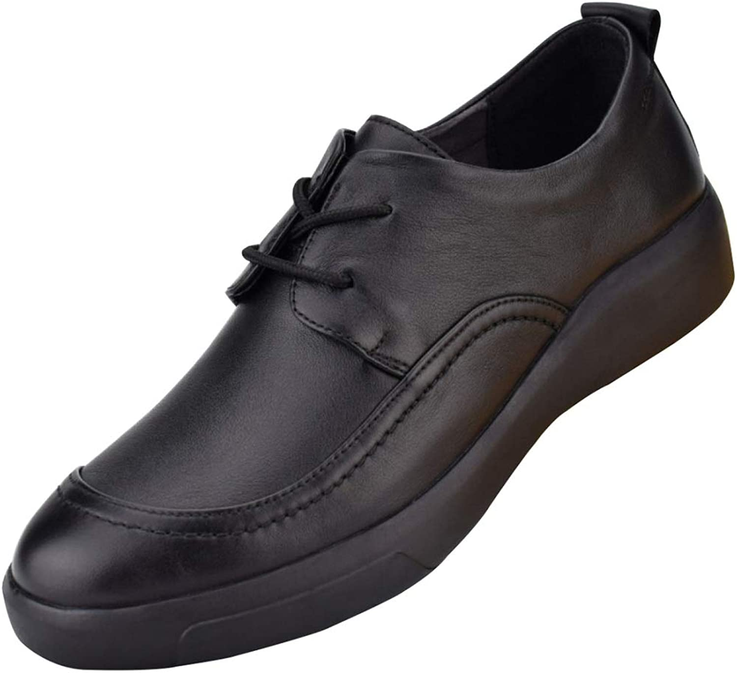 Men's Lace Up Derby Business Casual shoes Soft Leather Driving shoes