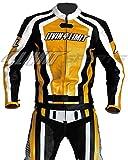 Motorrad Lederkombi 4LIMIT Sports LAGUNA SECA Motorradkombi Zweiteiler, Schwarz / Gelb XL