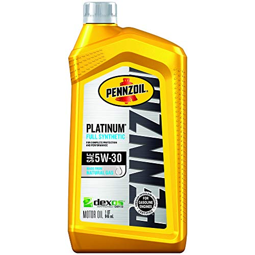 Pennzoil - 550022689-6PK Platinum Full Synthetic Motor Oil 5W-30, 1 Quart - Pack of 6