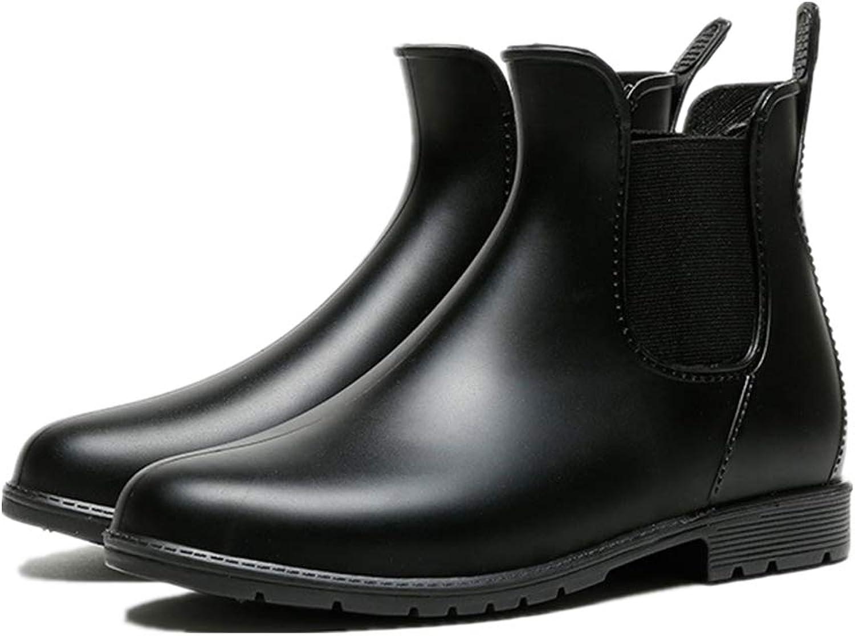 Super explosion Women's Anti Slip Chelsea Boot Pull on Short Elastic Waterproof Ankle Rain Boot