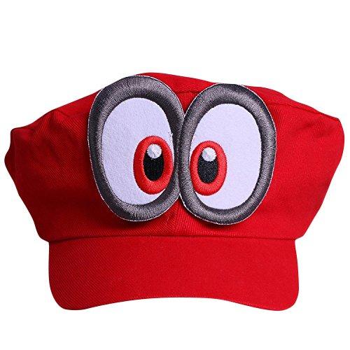 thematys Super Mario Odyssey Mütze - Kostüm-Set für Erwachsene & Kinder - perfekt für Fasching, Karneval & Cosplay - Augen