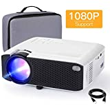 Mini Projector, APEMAN 3800 Lux 1080P Supported...