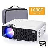"Projector, APEMAN 4000 Lumen Mini Portable Projector, 1080P Supported 180"" Display 50000 Hrs"