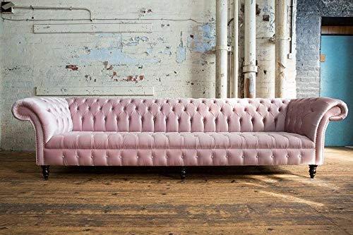 JVmoebel Big XXL Sofa Couch Lounge Club Sofa Gastro Chesterfield Sofas Couchen 6...