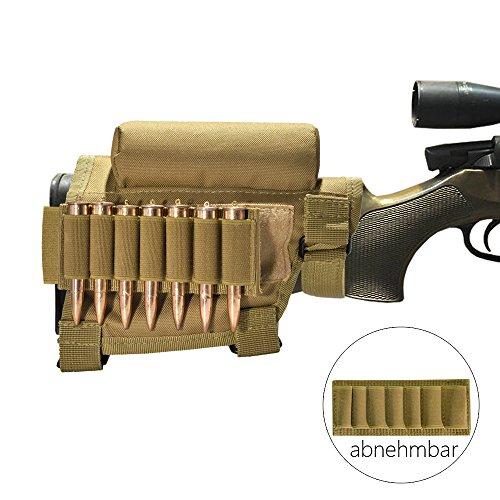 Jagd Gewehrschaft Tasche Shell Holder Verstellbar Gewehr Munition Rest Halter Taktische Kartusche Halter