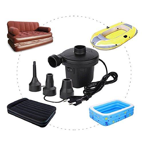 Schnell Elektrische Luftpumpe für Sitzsack, Schlauchboote, Gästebetten,Luftmatratzen und 150W/220-240V (TYPE-1)