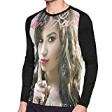 Demi Lovato Here We Go Again Long Sleeve T Shirt Men's Clothes 3D Printing Round Neck Shirts Black