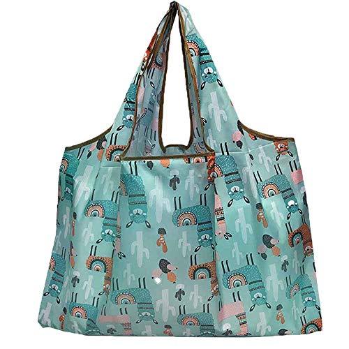 Onever エコバッグ 収納 ショッピングバッグ 折りたたみ 買い物袋 防水素材 大容量 収納 おおきめ 環境にやさしい コンパクト 水洗い可 繰り返し使用 選べる4色