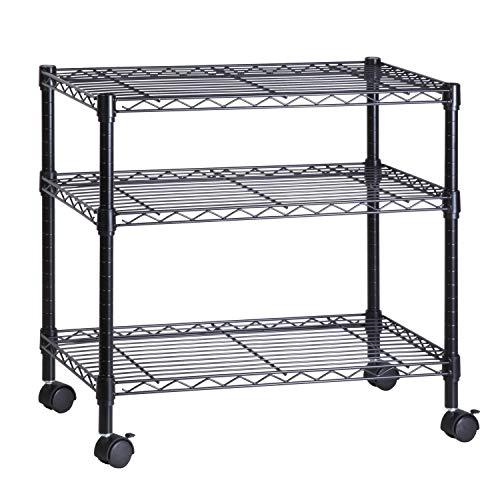 Honey-Can-Do 3-Shelf Portable Multimedia Cart Black