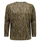 Mossy Oak Men's Standard Hunting Shirt Camo Clothes Long Sleeve, Bottomland, Medium