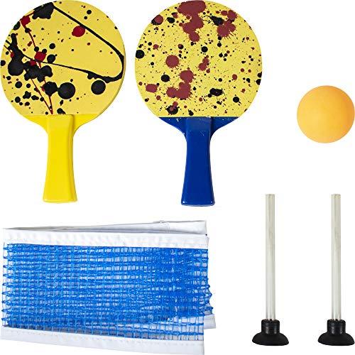 Sunflex Erwachsene Tischtennis-Set Mini, Mehrfarbig, M