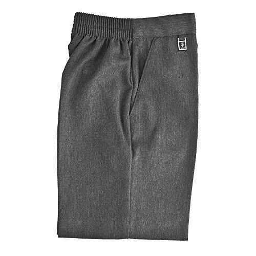 Pantalones cortos Zeco de Essential Wear para colegios y niños, talla grande, ajustados medios, elásticos, color gris Gris gris 11-12 Años