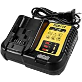 FLAGPOWER DCB112 12V 20V MAX Lithium Ion Replacement Battery Charger for DCB206 DCB205 DCB204 DCB203 DCB201 DCB120 DCB127, replace for DCB107 DCB105 DCB101 DCB115