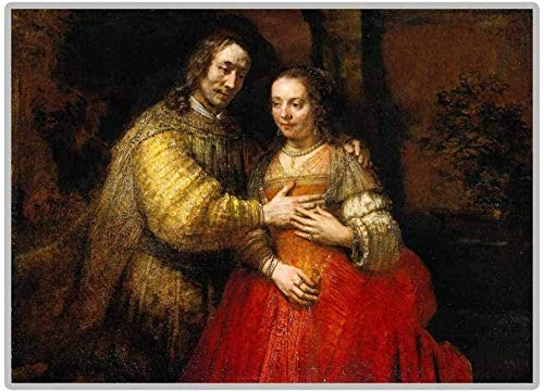 偉大な画家レンブラントユダヤの花嫁5DDIYダイヤモンド絵画フルラウンドダイヤモンドセールラインストーン画像40X50Cm