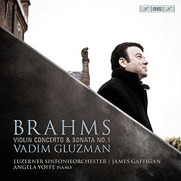 "Brahms: Violin Concerto in D Major, Op. 77 & Violin Sonata No. 1 in G Major, Op. 78 ""Regen"""