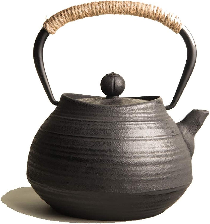 Théières Théière en fonte, bouilloire à thé Tetsubin de style japonais 0,7 L    Bouilloire en fonte pour garder le thé au chaud    Bouilloire haut de gamme en fonte rétro